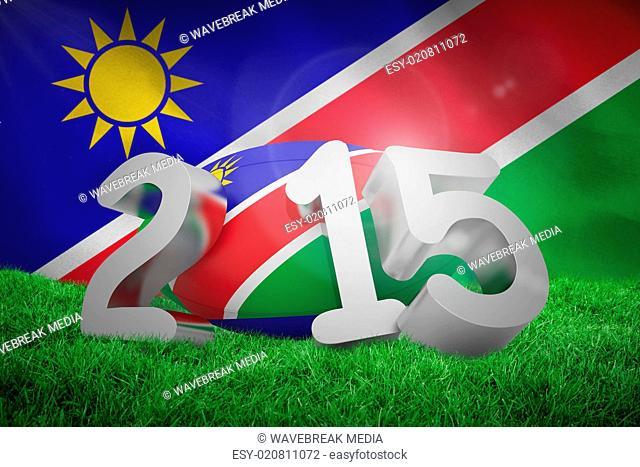 Composite image of namibia rugby 2015 message