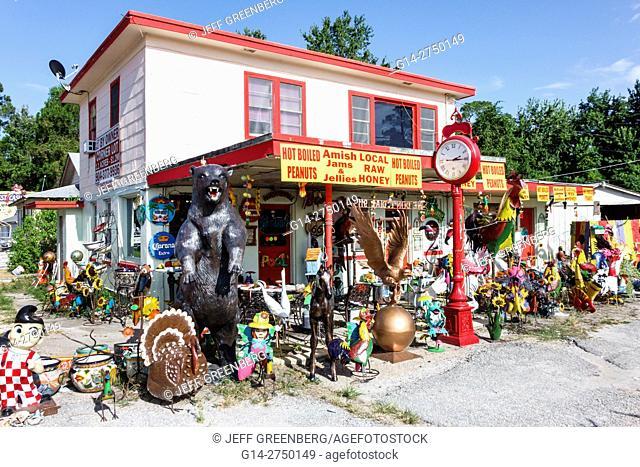 Florida, St. Saint Augustine, US 1 Dixie Highway, flea market, lawn ornaments, display, sale, roadside