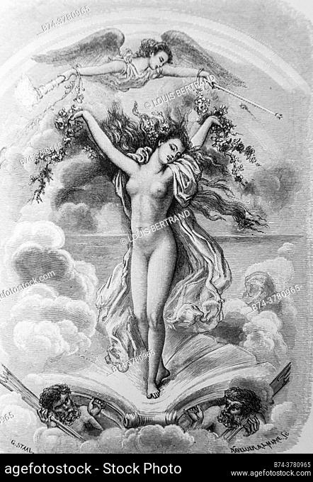 portrait of iris, tales of the fountain publisher garnier freres 1870