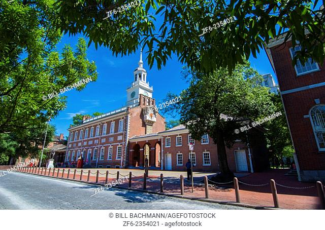 Philadelphia Pennsylvania Independence Hall famous historical building for our USA Constitution