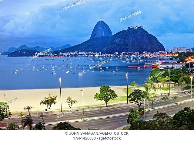 Brazil, Rio De Janeiro, Botafogo, View of Sugar Loaf