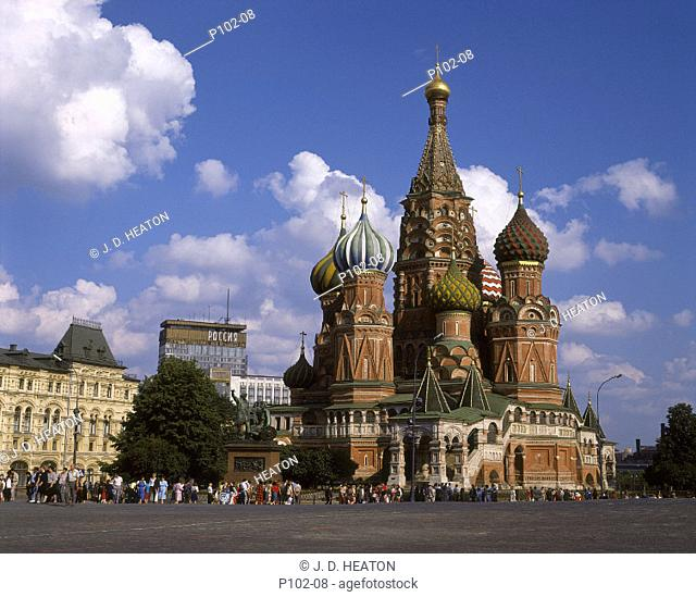 Russian federation. Moscow. Red Square. St. Basils cathedral