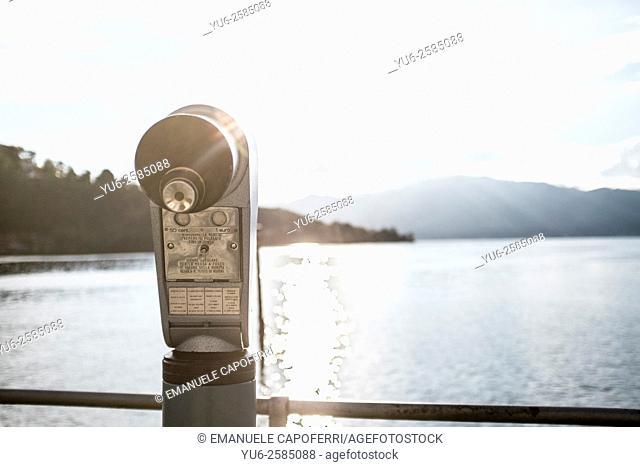 Telescope for tourists, Laveno, Italy