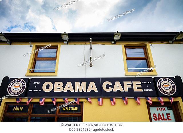 Ireland, County Offaly, Moneygall, The Obama Cafe