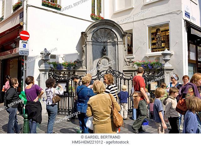 Belgium, Brussels, the historic centre, Mannenken Pis
