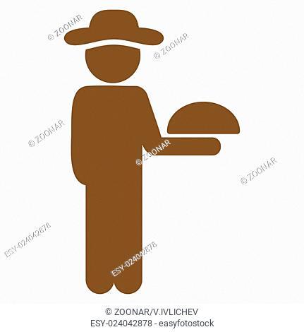 Boy Waiter Icon