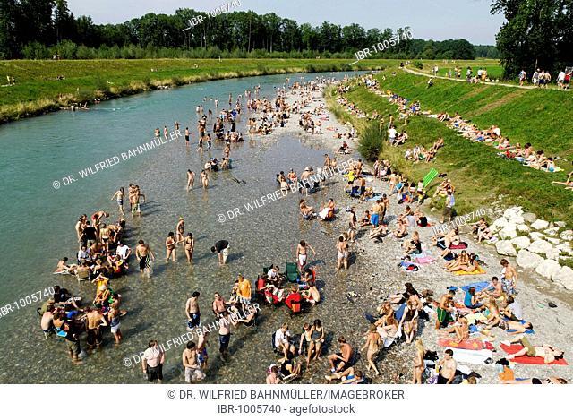 Tiroler Ache River near Uebersee, Chiemgau, Upper Bavaria, Germany, Europe