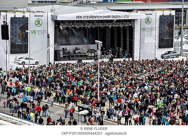 About 80,000 people visited Open house day at car maker Skoda Auto in Mlada Boleslav, Czech Republic, May 30, 2015. (CTK Photo/Rene Fluger)