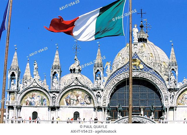 St Marks Cathedral and Italian Flag