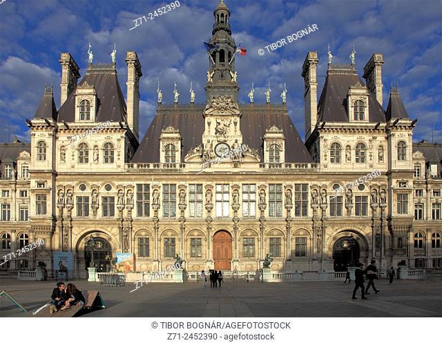 France, Paris, Hôtel de Ville, City Hall