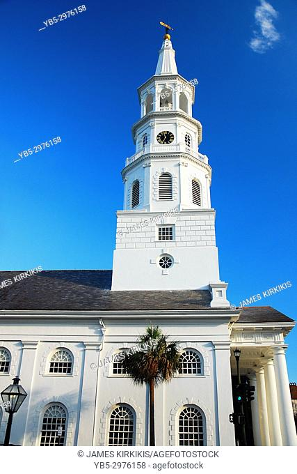 The Iconic Spire of St Michaels Church in Charleston SC