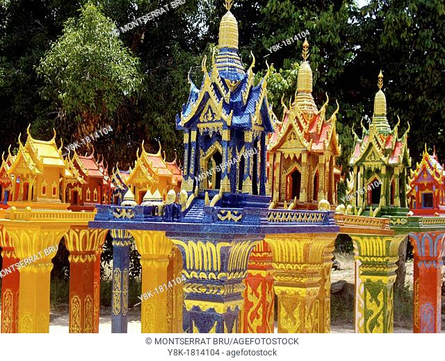 Collection of Thai Spirit Houses