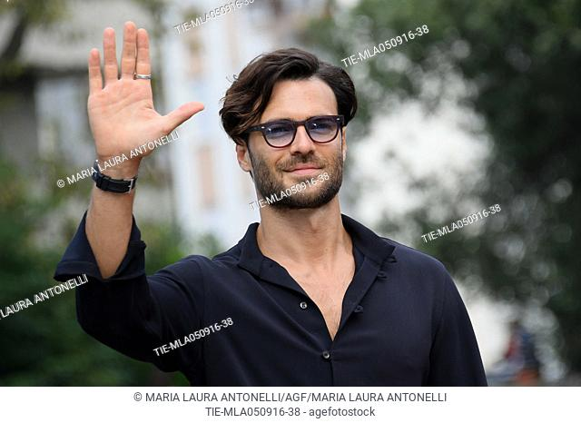 The actor Giulio Berruti arrives at Darsena of Hotel Excelsior, 73rd Venice Film Festival, Venice-ITALY-05-09-2016
