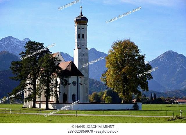 St.Coloman vor Tannheimer Alpen, Ostallgäu