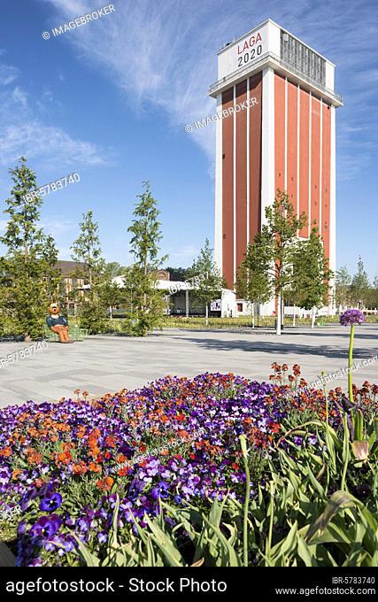 State Garden Show 2020 on the former site of the Friedrich Heinrich Colliery, Kamp-Lintfort, Lower Rhine, North Rhine-Westphalia, Germany, Europe