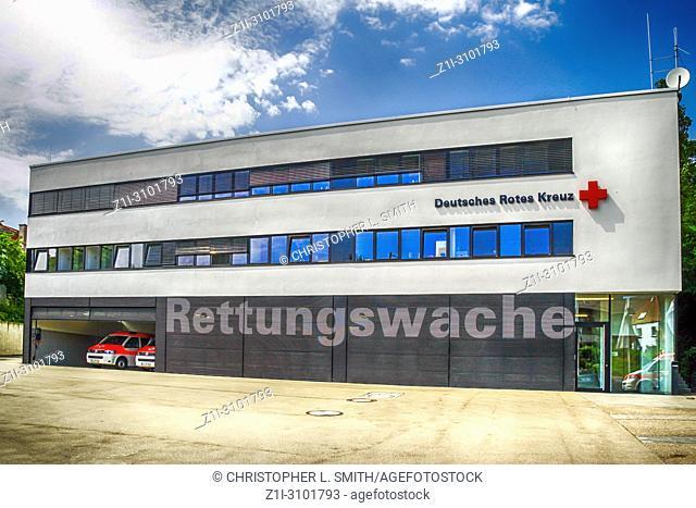 German Red Cross Ambulance Station in Ulm, Germany