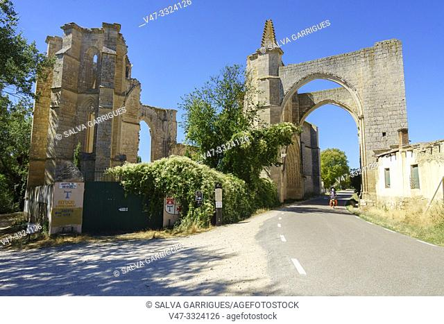 The road passes through the ruins of the old convent