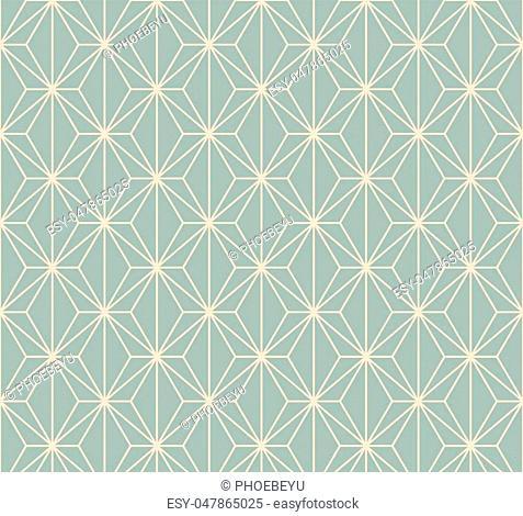 Antique seamless background polygon cross line