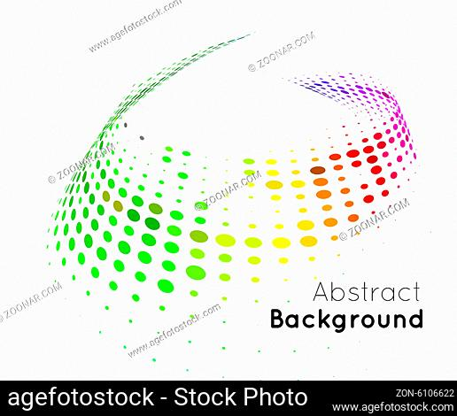 Abstract color vector background on white. Halftone style