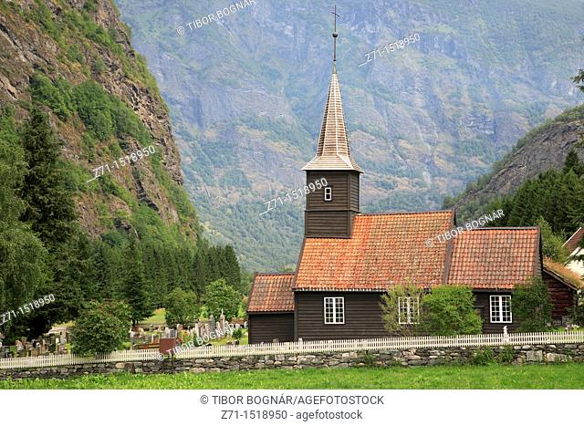 Church and cemetery, Flam, Norway