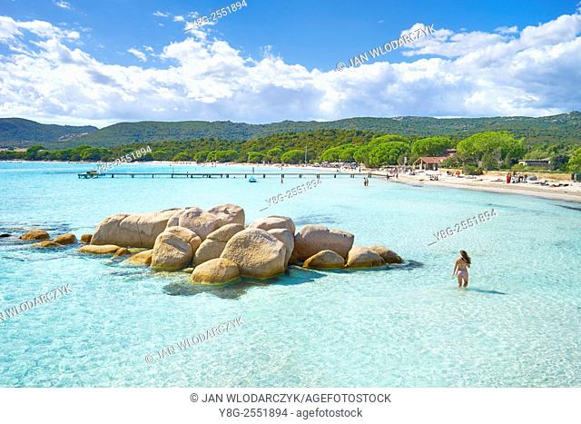 Santa Giulia Beach, Porto-Vecchio, East Coast of Corsica Island, France