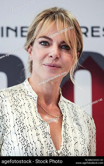 Claudia Gerini during the photocall, Rome, ITALY-23-06-2020
