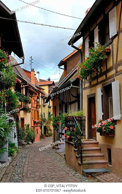 Narrow village street