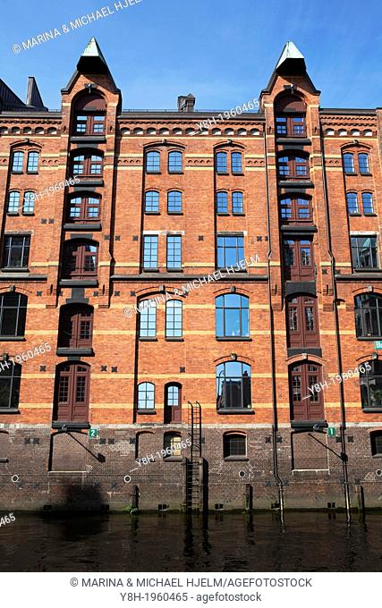 Warehouse District in Hamburg; Germany