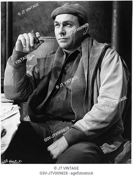 Howard Keel, on-set of the Film, Armored Command, Allied Artists, 1961
