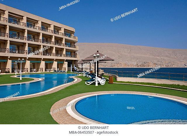 Arabia, Arabian peninsula, Sultanate of Oman, peninsula Musandam, Khasab, hotel Golden Tulip