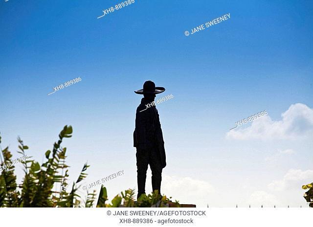 Silhouette of the Nicaraguan revolutionary leader Augusto Cesar Sandino, Managua, Nicaragua