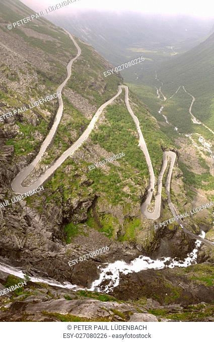 trollstigen 11km long,is one of the most famous streets of the world