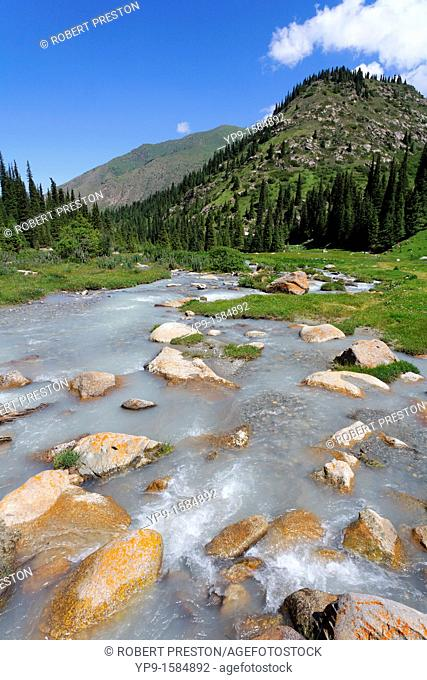 The Jeti Oghuz river, Jeti Oghuz Valley, Kyrgyzstan