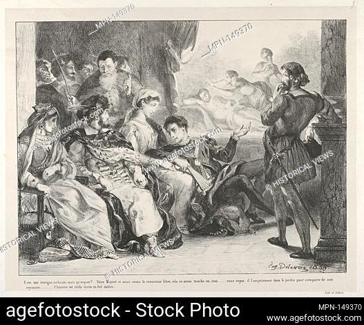 The Play-Within-A-Play. Series/Portfolio: Hamlet, Treize Sujets Dessinés par Eug. Delacroix [Hamlet, Thirteen Subjects Drawn by Eug