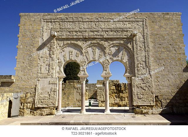 Cordoba (Spain). Door of the Prime Minister in the interior of the city of Medina Azahara