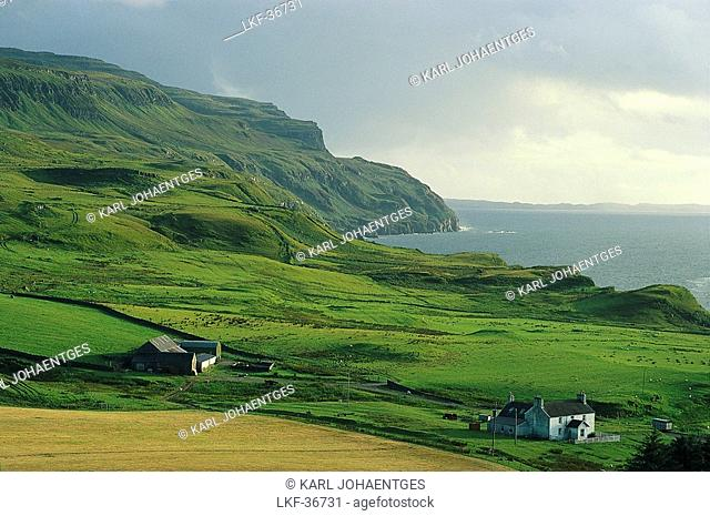 Coastline near Balnahard, Mull Island, Hebrides, Scotland, Great Britain