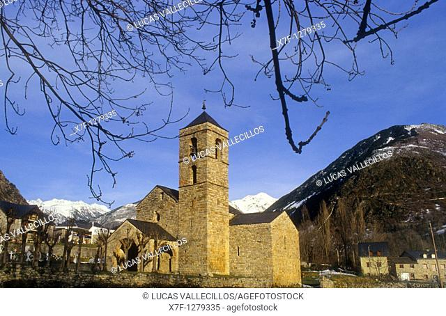 Sant Feliu Church Romanesque church Barruera Boí valley Lleida province  Catalonia  Spain