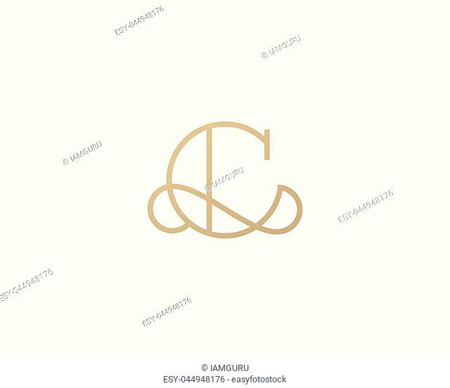Elegant line curve vector logotype. Premium letter C logo design. Luxury linear creative monogram