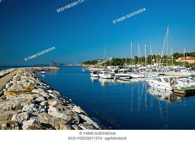 The New Harbour Of Les Lecques, Saint Cyrs Sur Mer, Provence, France