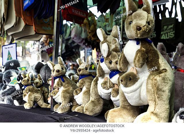 Kangaroo soft toys Queen Victoria Market Queen Street Melbourne Australia