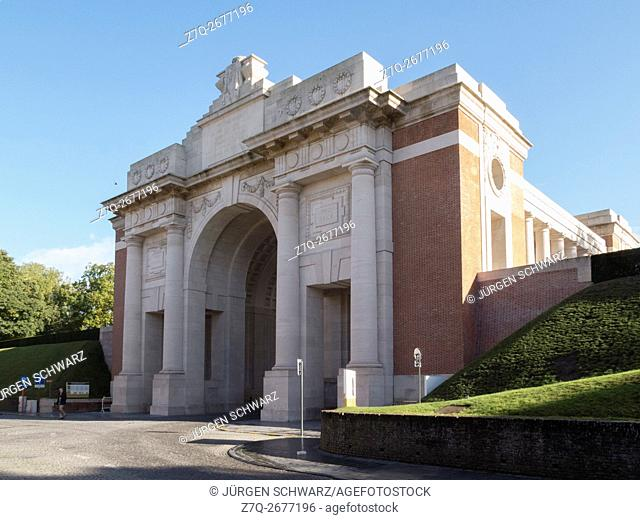 Menin Gate in Ypres, Belgium