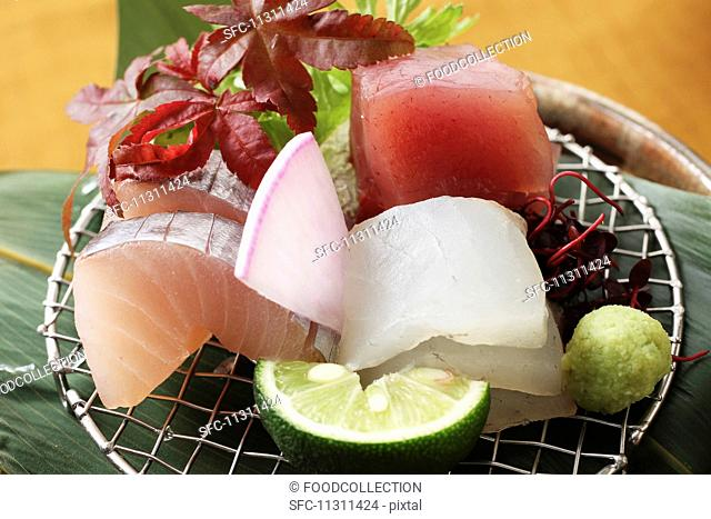 Sashimi with wasabi (Japan)