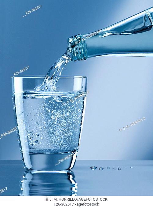 Bottle water glass