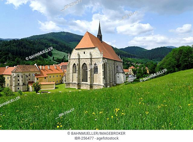 Former abbey of the Cistercian Order Neuberg upon the river Muerz Styria Austria