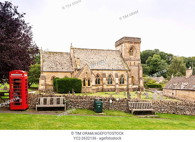 St Barnabas Church at Snowshill in Broadway , . Worcestershire , England , Britain , Uk