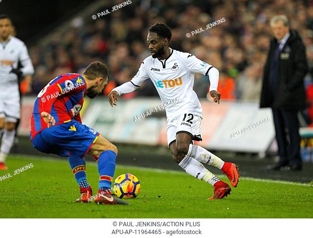 2017 EPL Premier League Football Swansea City v Crystal Palace Dec 23rd. 23rd December 2017, Liberty Stadium, Swansea, Wales; EPL Premier League football