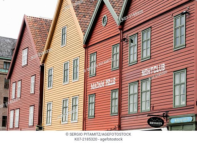 Bryggen historical district, Bergen, Norway