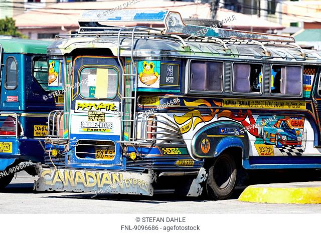 Jeepney, Angeles City, Luzon, Philippines, Asia