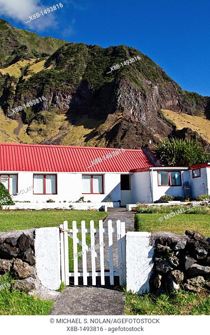 View of Tristan da Cunha, 'the most remote inhabited location on Earth', South Atlantic Ocean  MORE INFO The Tristan da Cunha Island Group is administered by...
