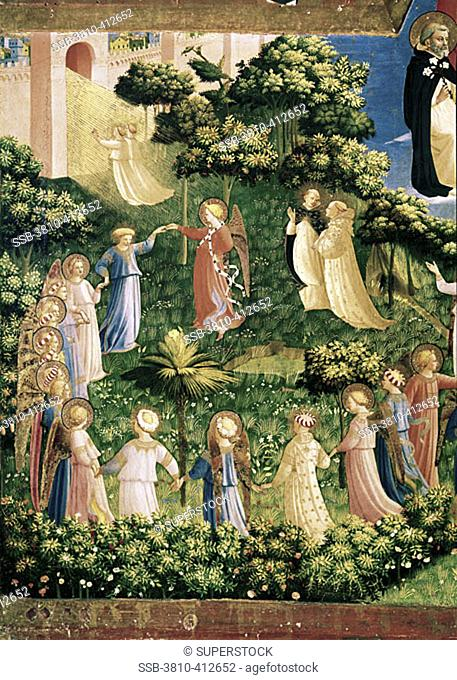 The Last Judgement (Detail) 1438-1445 Fra Angelico (ca.1387-1455 Italian) Fresco Museo di San Marco, Florence, Italy